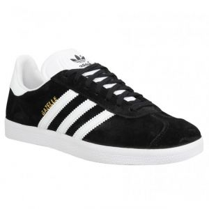 Adidas Gazelle, Sneakers Basses Mixte Adulte, Black (Core Black/White/Gold Met), 38 2/3 EU