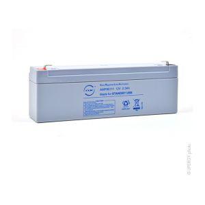 Nx Batterie plomb AGM 2.3-12 Standby 12V 2.3Ah F4.8