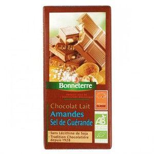 Bonneterre Chocolat lait amandes sel de Guérande 100g