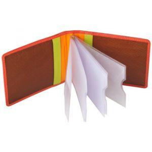 Dudu Portefeuille Porte cartes de crédit unisexe en cuir multicolor signé