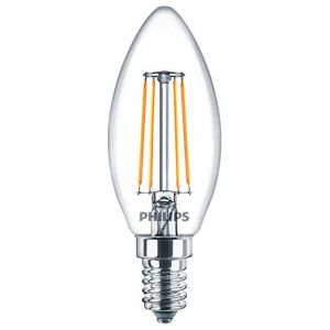 Philips LED classique Bougie à filament Blanc chaud ampoule, E14, 4 W