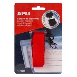 APLI 15239 - Lacet de sécurité pour badge, coloris rouge