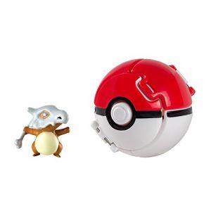 Tomy Mini-figurines - Pokémon Pokéball Throw 'n' Pop avec figurine Osselait