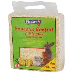 Vitakraft Copeaux confort parfumés au citron pour rongeurs (15 Litres)