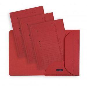 Elba 100330148 - Sous-dossier Ultimate chemise HV 2 rabats, lot de 25, A4 kraft rouge