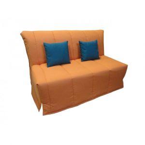 Inside75 Canapé BZ convertible FLO orange 160*200cm matelas confort BULTEX inclus