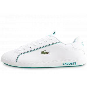 Lacoste Graduate 119 1 SMA WHT/GRN Baskets Hommes, Blanc 082, 44 EU