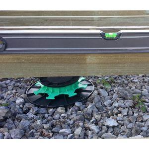 Green Outside Plots de réglage plastique pour plancher terrasse composite