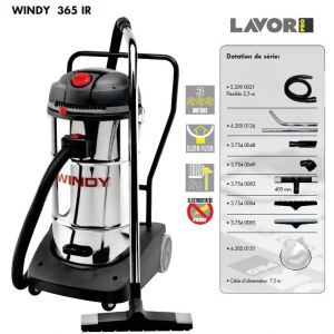 Lavor WINDY 365 - Aspirateur eau et poussières en inox 3600W 65 L