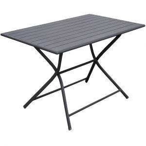 Proloisirs Table MAX rectangulaire aluminium grise 110 x 70 x 74 cm