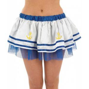 Jupon marin blanc et bleu femme Taille M