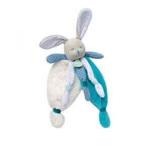 "Babynat Doudou lapin bleu ""poupi"""
