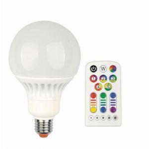 JEDI LIGHTING Ampoule globe LED changement de couleurs + télécommande 13W (équiv 60W) E27 JEDI