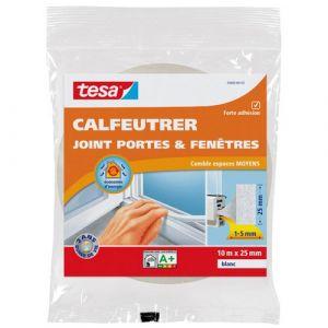 Tesa Bourrelet mousse polyuréthane - 15 mm x 10 m - blanc - Joint, Bourrelet, Toile de verre