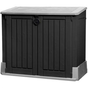 Dema Abri rangement de jardin / coffre / cache poubelle woodland 845 l