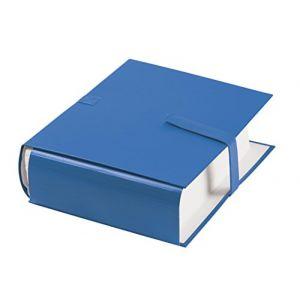 Fast 100725675 - Lot de 10 chemises à dos extensible 1 rabat, à sangle et fermeture velcro, coloris bleu