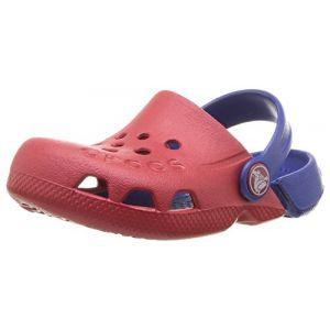 Crocs Electro, Sabots Mixte Enfant, Rouge (Pepper/Cerulean Blue), 32/33 EU