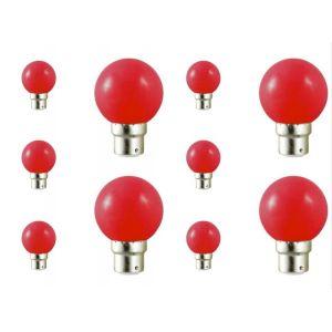 Vision-El Lot de 10 ampoules led B22 pour guirlande lumineuse (7 couleurs d'éclairage) - Couleur eclairage - Rouge