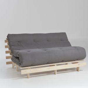 Matelas futon Latex laine lin pour banquette THAÏ Gris Clair Taille 90x190 cm;140x190 cm;160x200 cm