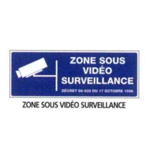 """Taliaplast 621239 - Panneau ps choc """" zone sous video surveillance"""" 330 x 75"""