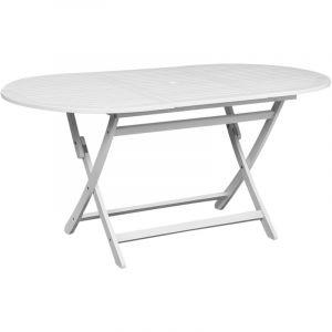 VidaXL Table d'extérieur en bois d'acacia ovale