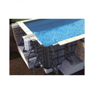 Proswell Kit piscine P-PVC 6.50x3.50x1.25m liner bleu