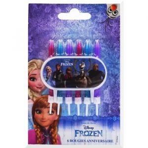 Devineau 6 bougies à flamme de couleur La Reine des Neiges