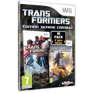 Bi-Pack Transformers : La face cachée de la lune + Aventures sur Cybertron [Wii]