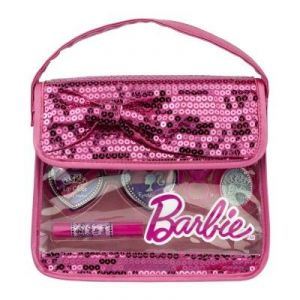Markwins Sac à main en sequin Barbie : maquillage