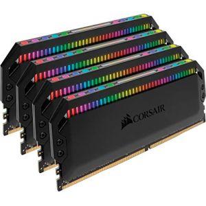 Corsair Dominator Platinum RGB 32Go (4x8Go) DDR4 3000MHz C15, Eclairage LED RGB dynamique Kit de Mémoire – Noire