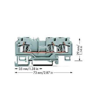 Wago 880-681/999-940 - Borne de passage pour 3 conducteurs 100 pc(s)