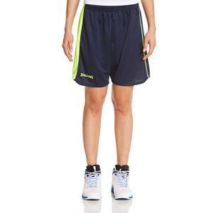 Spalding Spalding 4her II Short de basket Femme Bleu Marine/Jaune Paille FR : M (Taille Fabricant : M)