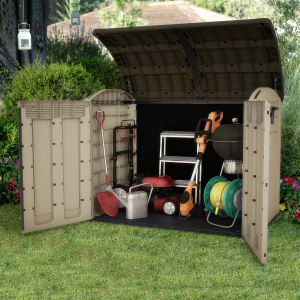 image de chalet et jardin coffre de rangement multifonctions en rsine - Coffre De Rangement Exterieur
