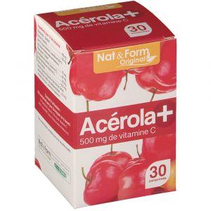 Nat & Form Acérola + 500 mg - 30 comprimés