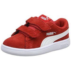 Puma Smash v2 SD V Inf, Sneakers Basses Mixte Enfant, Rouge (High Risk Red White), 23 EU