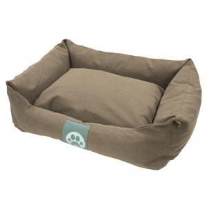 Overseas Lit pour chiens 70x60x20 cm Toile Sable