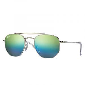 Ray-Ban Marshal Homme Sunglasses Verres: Bleu, Monture: Argent - RB3648 003/I2 54-21