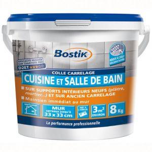 Bostik Colle carrelage - cuisine et salle de bain - 8 Kg