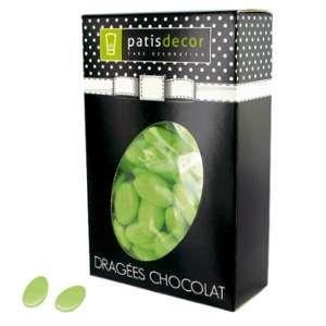 Patisdécor Dragées chocolat vert tilleul - 500g