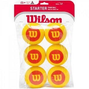 Wilson Starter Balles de tennis en mousse enfant Rouge/jaune