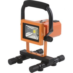 Dhome Projecteur LED de chantier rechargeable batterie amovible - 900 lm - Orange et noir