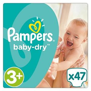 Pampers Baby Dry taille 3+ (6-10 kg) - 47 couches