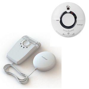 FireAngel Dispositif d'alerte combiné lumière stroboscopique et coussin vibreur AngelEye W2-SVP630-EUGarantie 5 ans