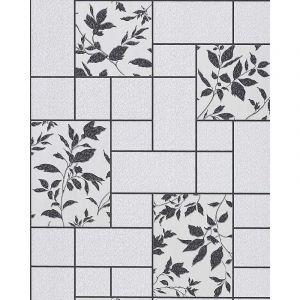 Edem Papier peint moderne Cuisine 146-20 Bain Atelier Aspect carrelage gris clair anthracite scintillement