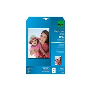 Sigel 20 feuilles de papier photo Ultra 190g/m² (A4)