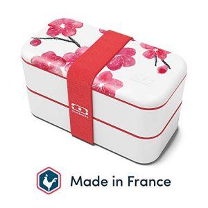 monbento MB Original bento Box Blossom Made in France - Lunch Box hermétique 2 étages - Boîte Repas idéale pour Le Travail/école - sans BPA - Durable et sûre