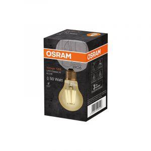 Ledvance OSRAM Vintage Edition 1906 Ampoule LED à Filament | Culot E27 | Forme Standard Or Ambrée | Blanc Chaud 2500K | 6,5W (équivalent 55W)