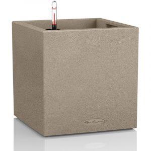 Lechuza Pot carré beige gamme Canto color dimensions L30xl30xH30 cm