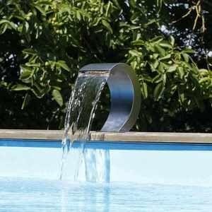 Ubbink Cascade de piscine Mamba S-LED en inox