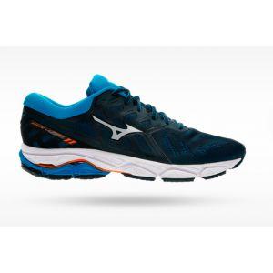Mizuno Chaussures running Wave Ultima 11 - Dress Blues / Vapor Blue / Blazing Yellow - Taille EU 45